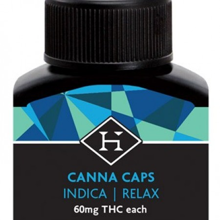 THC Hash Caps PM Indica 60mg - 5 pack - Pill - Hashman Infused