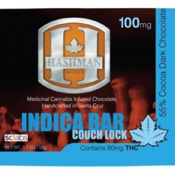 Indica Chocolate Bar - 100mg - Chocolate - Hashman Infused