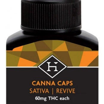 THC Hash Caps AM Sativa 60mg - 2 pack